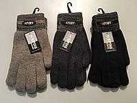 Чоловічі подвійні рукавички на махре оптом.