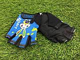 Велоперчатки детские (красные, синие, чёрные), фото 3