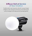 Диффузор шар Tolifo globe diffuser 300mm Bowens, фото 4