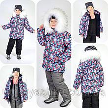 """Зимняя курточка на девочку """"Снежинка"""" 98-128"""