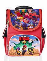 Ранец школьный каркасный рюкзак детский ортопедический для мальчиков Бравл Старс