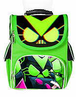 Ранец школьный каркасный рюкзак детский ортопедический Бравл Старс Вирус 8-бит