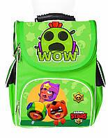 Ранец школьный каркасный рюкзак детский ортопедический Бравл Старс Леон Спайк Нита Сенди