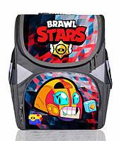 Ранец школьный каркасный рюкзак детский ортопедический Бравл Старс Макс