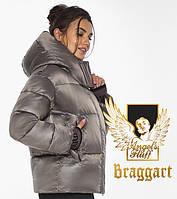 Воздуховик-пуховик женский зимний Braggart Angel's Fluff | Куртка женская капучиновая с карманами зимняя
