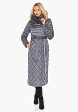 Воздуховик-пуховик жіночий зимовий Braggart angel's Fluff | Перлинно-сіра куртка жіноча довга зимова 4XS-XL, фото 3