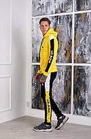 Тёплый спортивный костюм Adidas желтий мужской