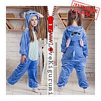 Оригинальные пижамы кигуруми Стич для детей и взрослых на рост от 110 до 145 см
