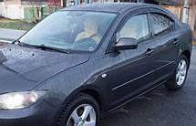 Дефлекторы окон Mazda 3 I Sd 2003-2008 | Ветровики Мазда 3