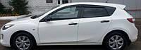 Ветровики Мазда 3 | Дефлекторы окон Mazda 3 II (BL) Hb 2009