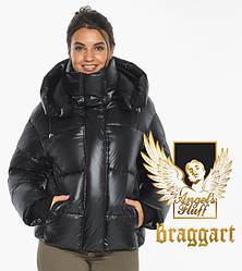 Воздуховик Braggart angel's Fluff   Чорна коротка жіноча зимова куртка