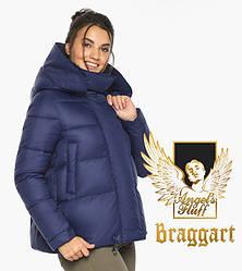 Воздуховик Braggart angel's Fluff   Куртка синя зимова з манжетами жіноча