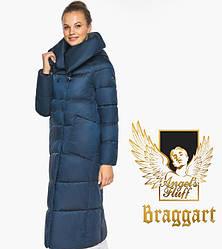 Воздуховик Braggart angel's Fluff   Куртка сапфірове жіноча зимова з манжетами