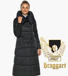 Воздуховик Braggart angel's Fluff   Чорна куртка жіноча зимова тепла