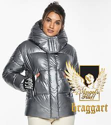 Воздуховик Braggart angel's Fluff   Жіноча куртка з манжетами зимова колір срібло модель