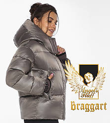Воздуховик Braggart angel's Fluff   Куртка жіноча капучиновая з кишенями зимова модель