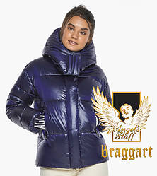 Воздуховик Braggart angel's Fluff   Куртка синя коротка зимова жіноча модель