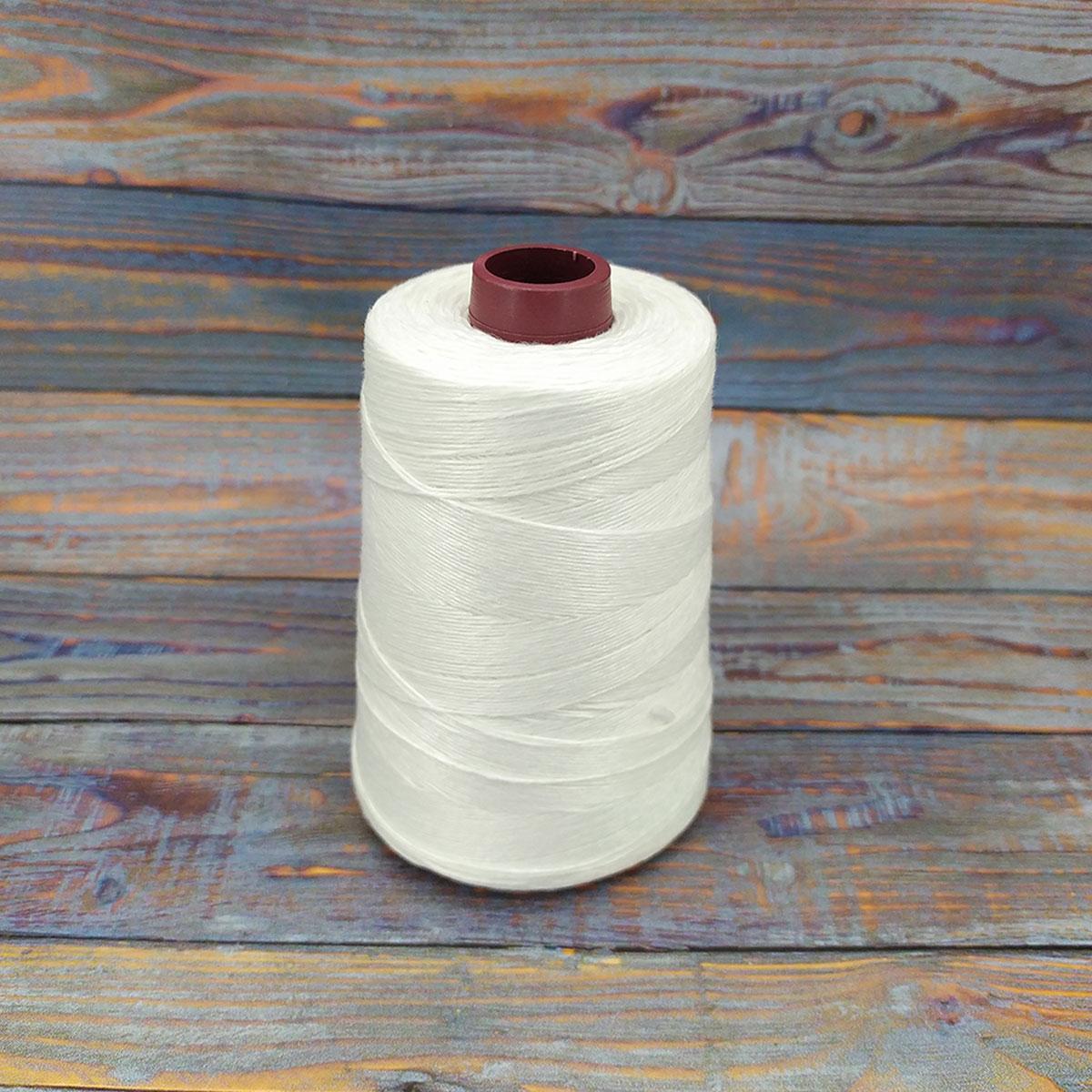 Нить для сшивания мешков 200г - 1000м 12S/4 крученая нитка для зшивання