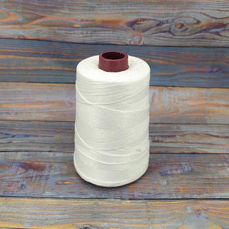 Нитка для зшивання мішків 200г - 1000м 12S/4 кручена нитка для зшивання, фото 2