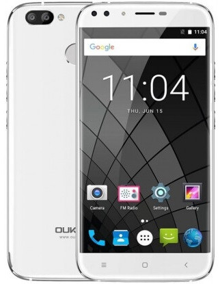 "Смартфон Oukitel U22 White, 2/16Gb, 13+2/8+2Мп, 4 ядра, 2sim, экран 5,5"" IPS, 2500mAh, GPS, 4G, Android 7.0"