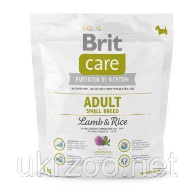 Сухой корм для взрослых собак мелких пород (весом до 10 кг) Brit Care  1 кг (ягненок и рис) 132708