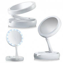 Складное дзеркало для макіяжу з Led підсвічуванням My FoldAway Mirror органайзер для аксесуарів