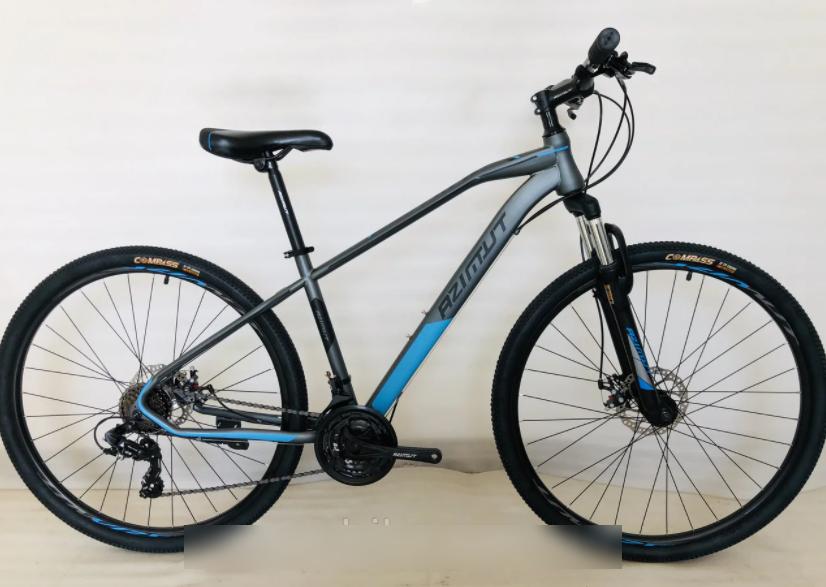 Горный спортивный взрослый велосипед Azimut Gemini (Азимут Жемини) 26 дюймов рама 15.5 серый