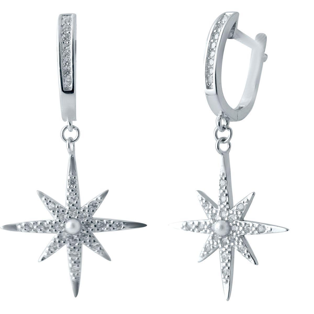 Серебряные серьги DreamJewelry с фианитами (2038009)