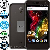 Смартфон Противоударный Nomi i5071 Black (2/16GB) - IP68