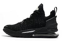Баскетбольные кроссовки Nike Lebron 18 Black Реплика, фото 1
