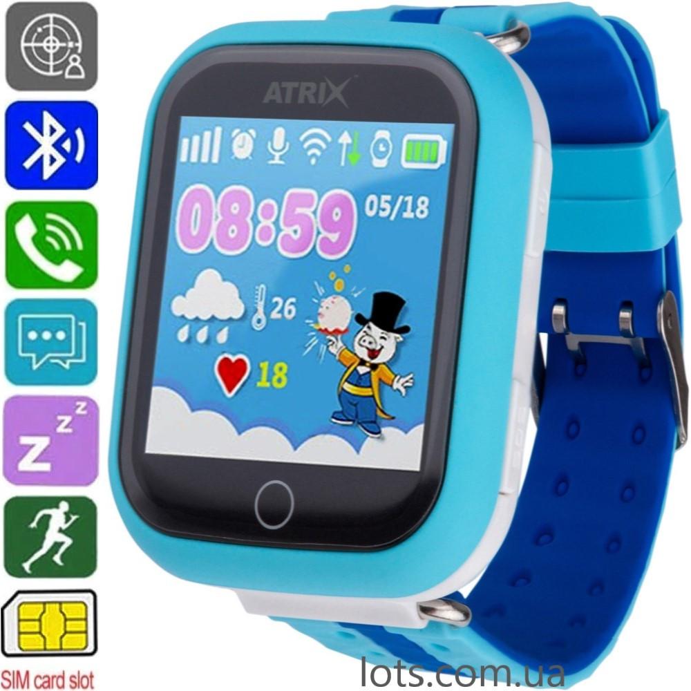 Смарт-Часы Детские ATRIX Smart Watch iQ100 Blue (GPS + SIM) - Умные Часы