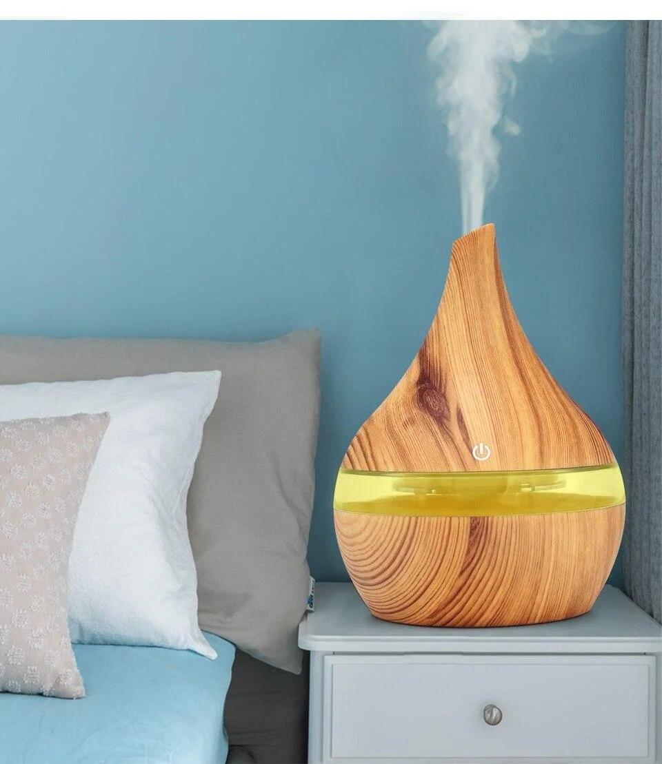 Ультразвуковой увлажнитель воздуха Humidifier Light wood c подсветкой и аромадиффузором