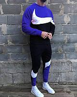 Спортивный костюм теплый мужской Nike синий. Брендовый спортивный костюм Nike Air(утепленный на флисе)