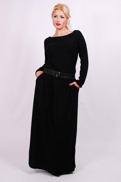 Платье в пол заниженная талия