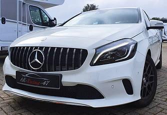 Решетка радиатора Mercedes W176 (12-16) стиль GT AMG