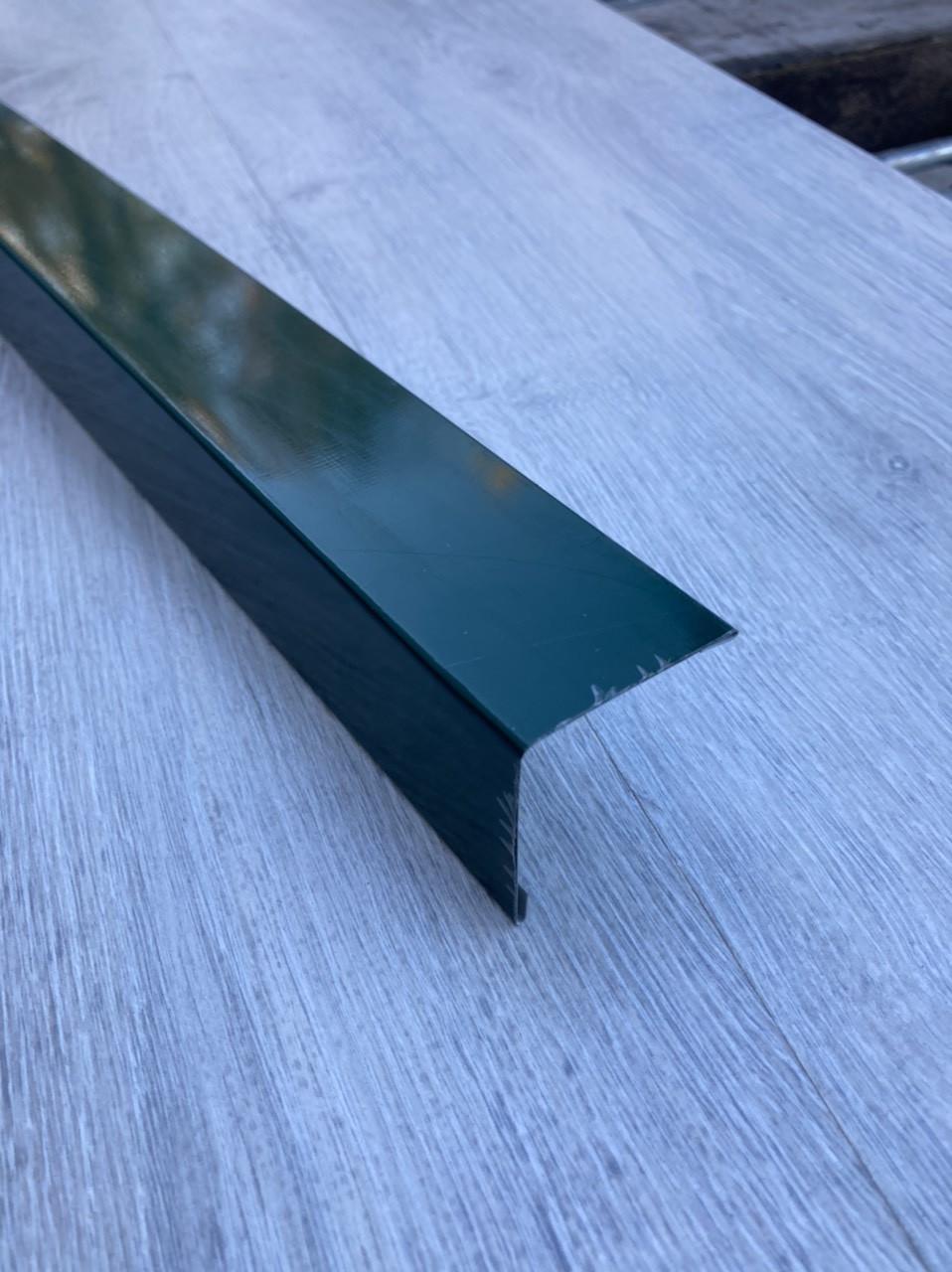 Кутова планка 40 Х 40 мм, зелена, комплектуючі для профнастилу,