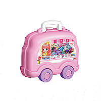 """Конструктор для девочек 3-10 лет в чемодане """"Princess castle"""" (Qman 2905), 690 дет."""