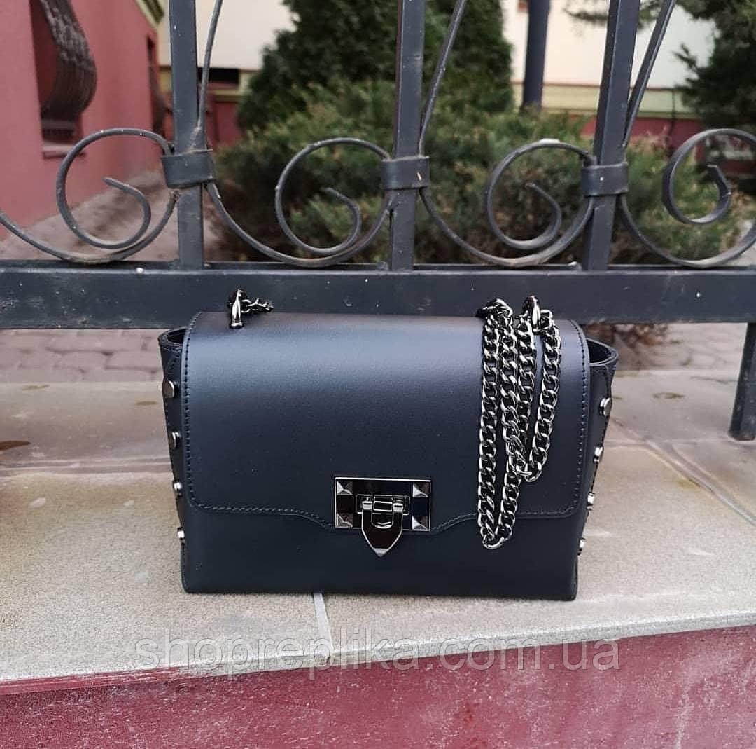 Женская кожаная сумка на длинной ручке Италия Клатчи и маленькие сумочки