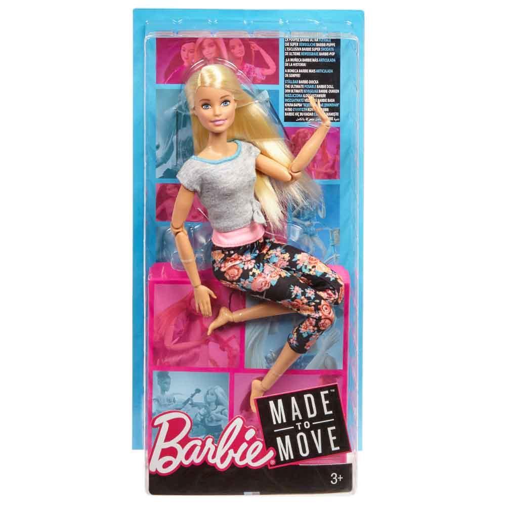 Кукла Barbie Двигайся как я Блондинка