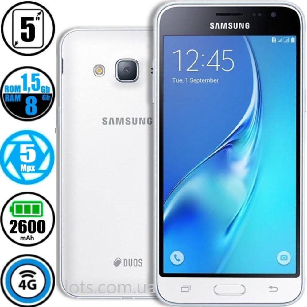 Смартфон Samsung Galaxy J3 SM-J320H White (Оригинал) + Подарок Защитное Стекло