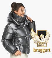 Зимняя женская куртка цвет темное серебро моде. Воздуховик Braggart Angel's Fluff Германия