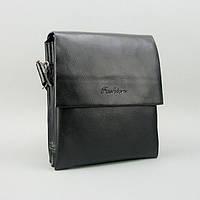 Мужская маленькая черная сумка 398-2 через плечо деловая органайзер, фото 1