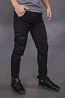 Штаны карго брюки мужские зимние теплые качественные черные Conqueror Intruder