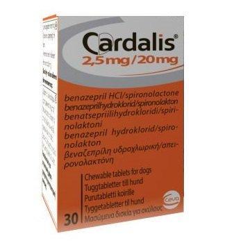 КАРДАЛИС 2,5 мг CARDALIS для лечения сердечной недостаточности у собак, 30 таблеток