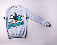 Свитшот Liberty - SanJose Sharks, Grey, одежда, обувь
