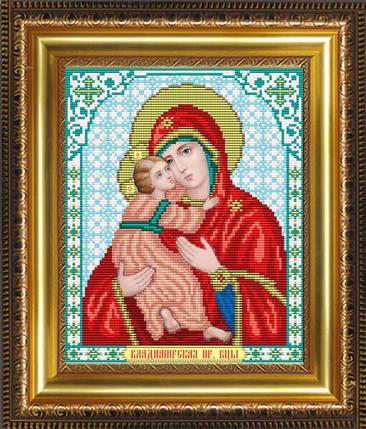 """Рисунок на ткани для вышивания бисером """"Пресвятая Богородица Владимирская"""" , фото 2"""