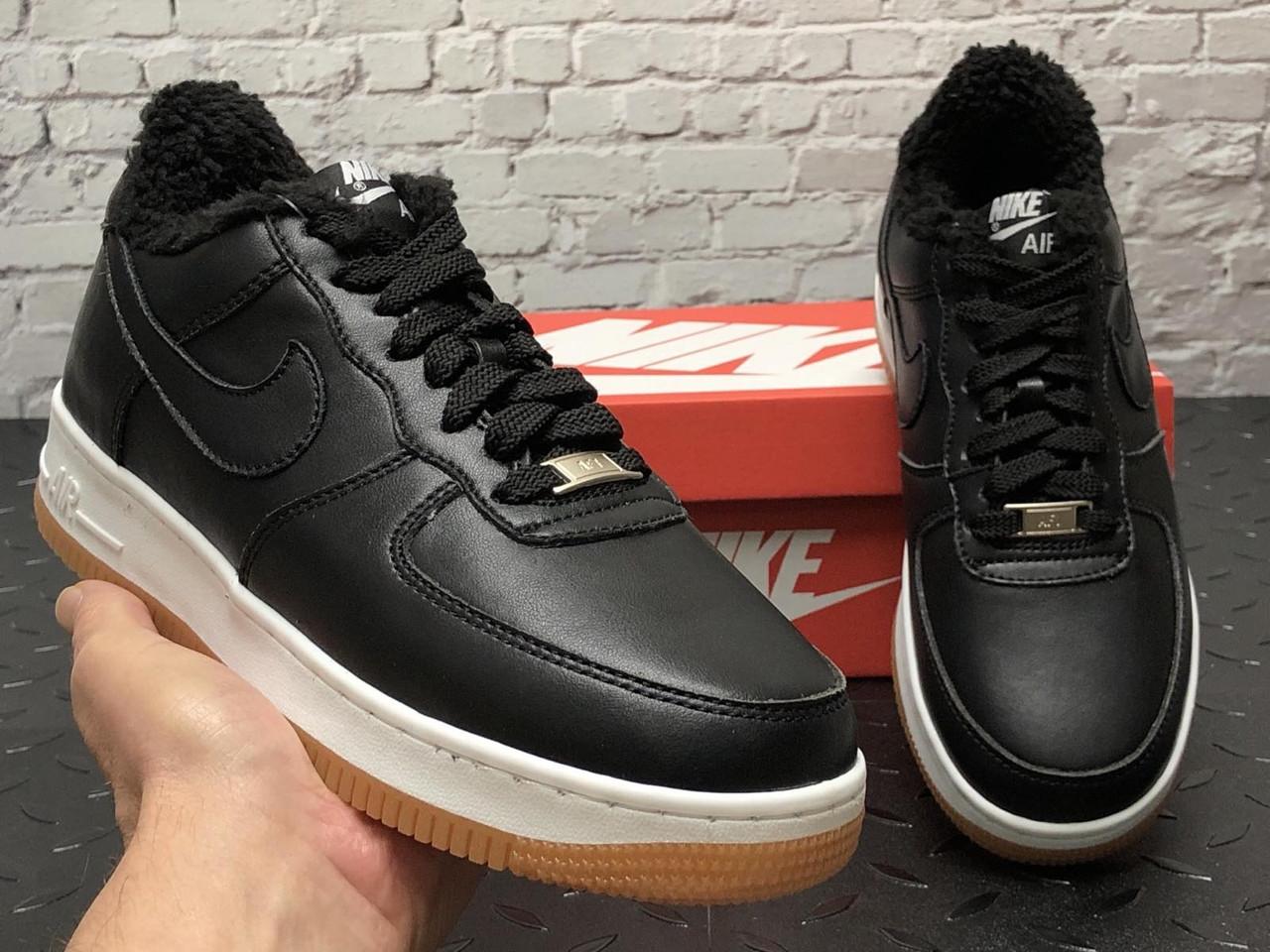 Зимние мужские кроссовки на меху Nike Air Force, найк аир форс