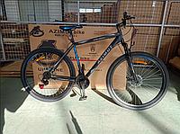 """Спортивный горный велосипед 29 дюймов Аzimut Spark 29"""" FR/D рама 21"""" черно-синий"""