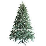 """Новогодняя искусственная елка 2,10 м литая """"Флора"""" голубая, фото 2"""