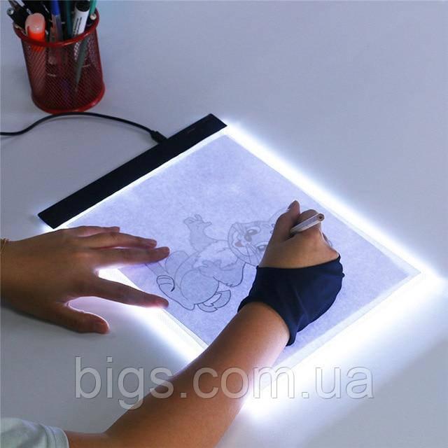 Планшет для рисования с LED-подсветкой А4